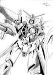 try to draw gundam