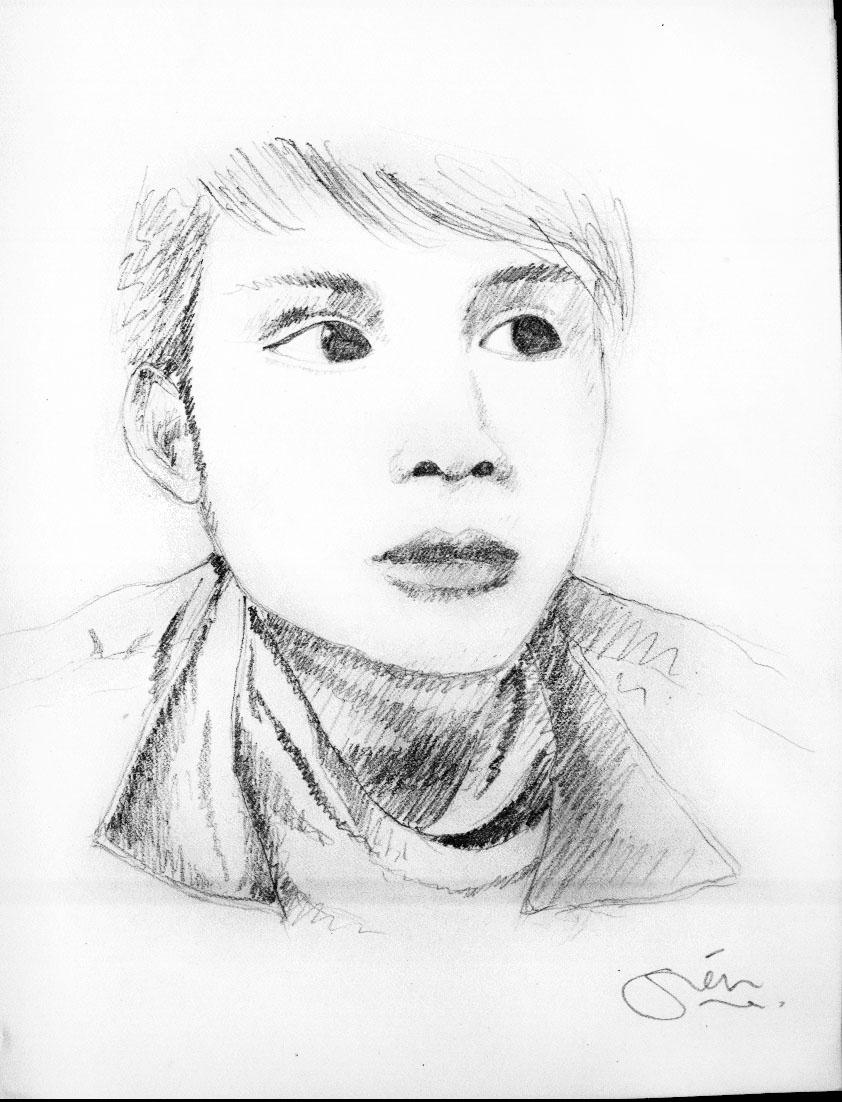Sketch Pensil Berwarna Oranye