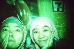 with best friend